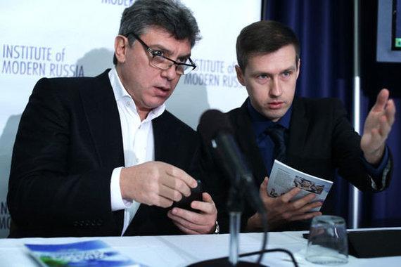 """""""Facebook"""" nuotr./Leonidas Martyniukas (dešinėje) ir Borisas Nemcovas"""