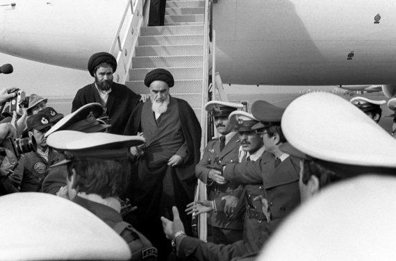 """AFP/""""Scanpix"""" nuotr./Ajatola Ruhollah Khomeini 1979 metais"""