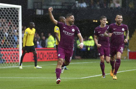 """Scanpix""/AP nuotr./Rugsėjį ""Manchester City"" įveikė ""Watford"" net 6:0"
