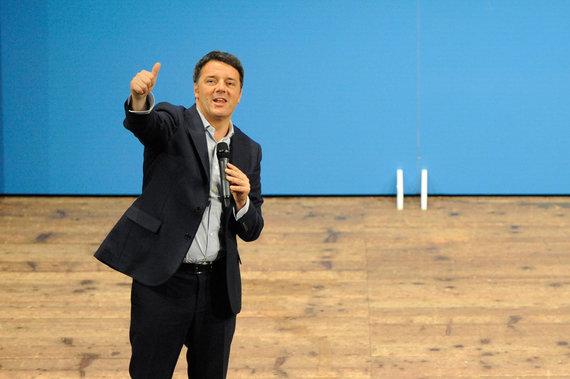 """""""Scanpix""""/""""SIPA"""" nuotr./Matteo Renzi"""