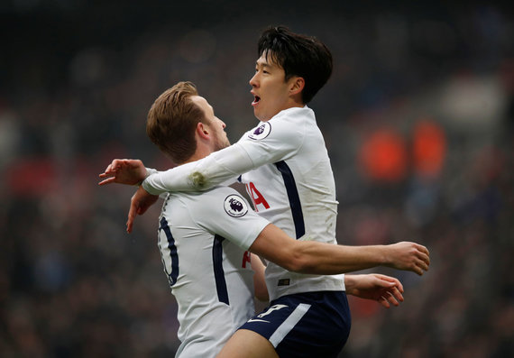 """Reuters""/""Scanpix"" nuotr./Harry Kane'as ir Son Heung-minas"