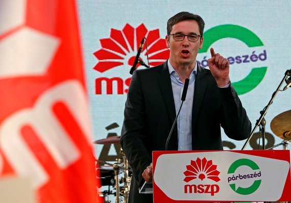 """Reuters""/""Scanpix"" nuotr./Opozicinių socialistų lyderis Gergely Karacsony"