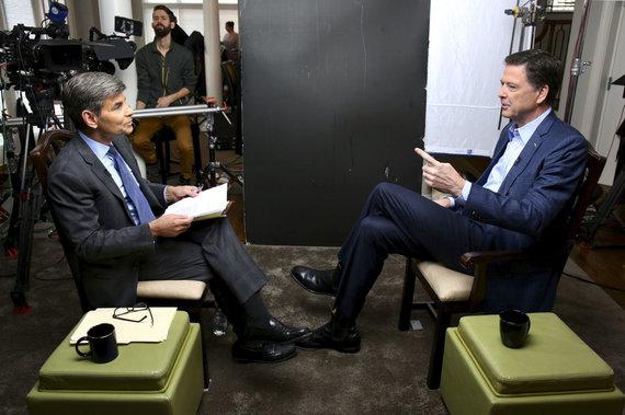 """Scanpix""/AP nuotr./Jamesas Comey duoda interviu ABC"