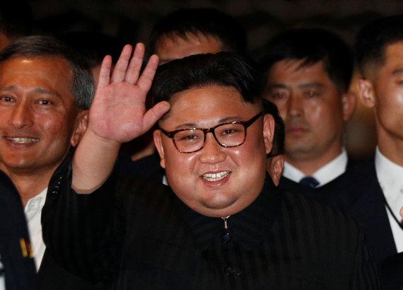 """""""Reuters""""/""""Scanpix"""" nuotr./Kim Jong Unas Singapūre"""