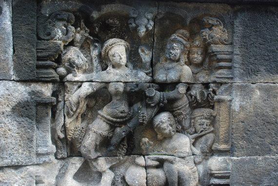 Saulės pasitikimas Borobudūro šventykloje
