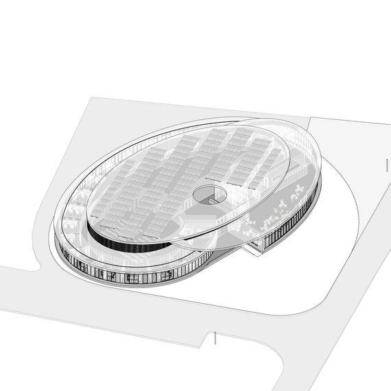 """Atominės elektrinės naujo pastato """"Akis"""" projektinis pasiūlymas"""