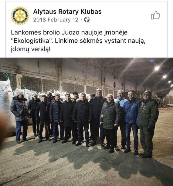 Rotary klubo įrašas