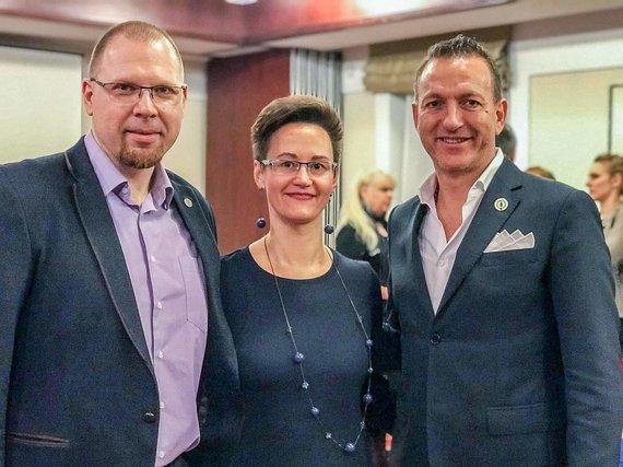 Asmeninio albumo nuotr./Kristina ir Tomas Mareckai Pasaulinėje lyderystės konferencijoje