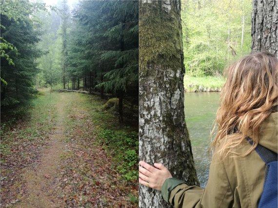 Asmeninio albumo ir Larso Verketo nuotr./Liudmila Monkevičė, miško terapija