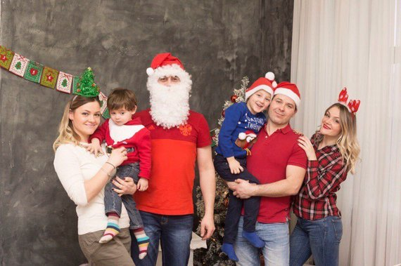 Asmeninio albumo nuotr./Katerina ir Ana su šeimomis