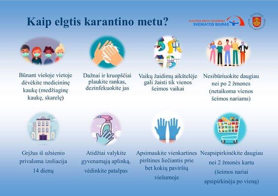 Klaipėdos visuomenės sveikatos biuro nuotr./Kaip elgtis karantino metu