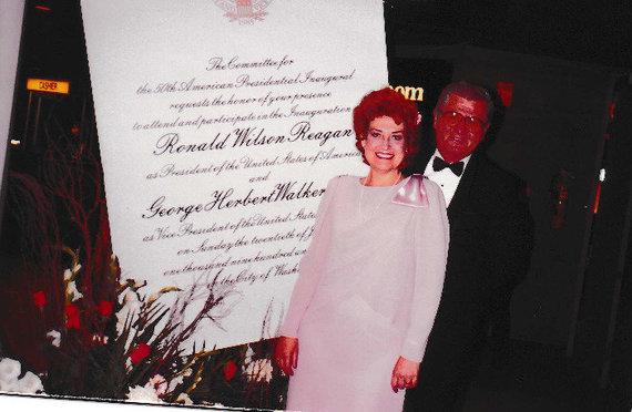 Asmeninio albumo nuotr./Prezidento R.Reagano inauguracijoje