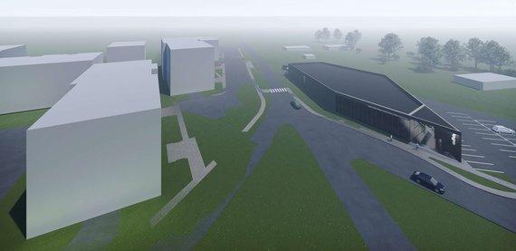 """""""Cloud architektai""""/""""Eriadas"""" Lazdynėliuose planuoja statyti prekybos pastatą"""