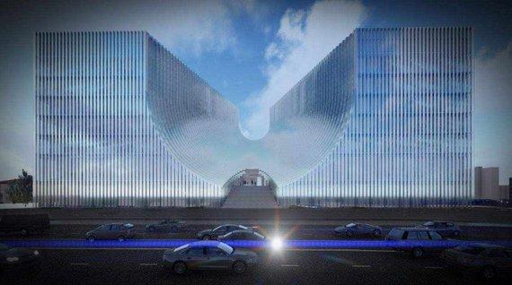 """""""Cloud architektai""""/Planuojamas teismų rūmų pastatas"""