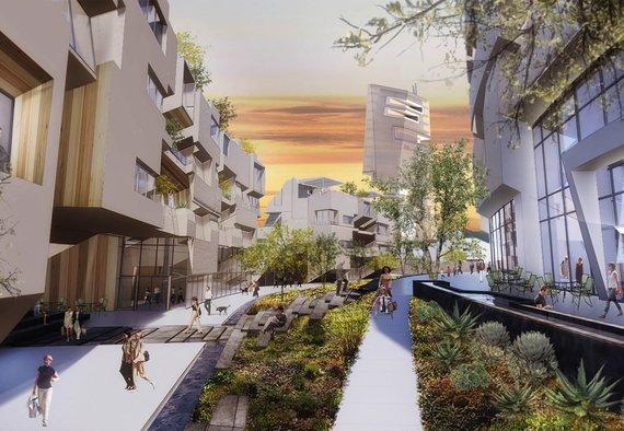 """""""Ehrlich Yanai Rhee Chaney Architects"""" ir """"Tom Wiscombe Architecture"""" vizualizacija/Suplanuotas naujas išmanusis miestas JAV"""