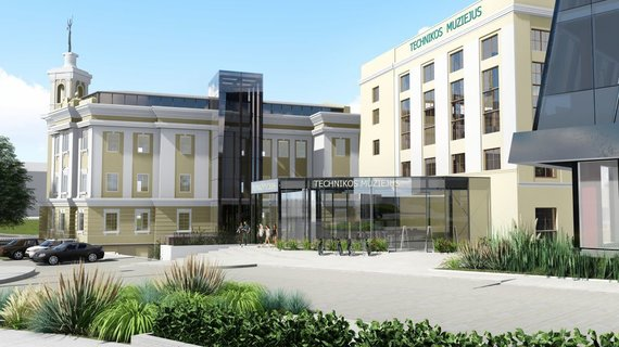 """Bendrovės vizualizacija/Prie Energetikos ir technikos muziejaus iškils """"DoubleTree by Hilton"""" viešbutis"""