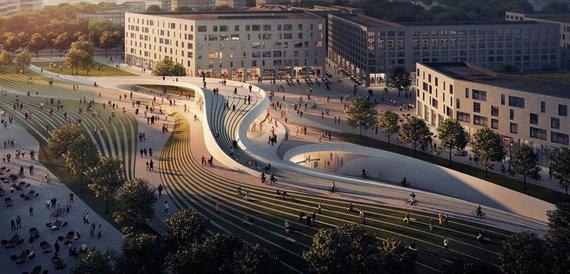 """arch. """"Zaha Hadid Architects"""", """"A_Lab"""", vizualizacijos VA/Osle planuojama statyti naujas metro stotis"""