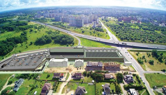"""""""Žemės plėtra""""/Vilniaus vakariniame aplinkkelyje planuojamas dar vienas didžiulis prekybos centras"""