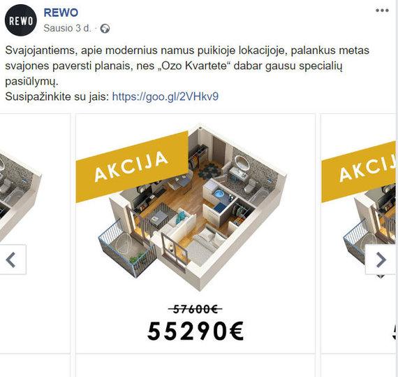 Facebook.com/Nekilnojamojo turto plėtotojų siūlomos nuolaidos ir akcijos