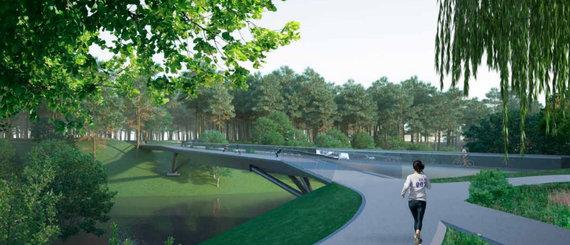 """TEC Infrastructure""/ ""KILD""/Projektuojamas tiltas prie ""Litexpo"" sostinėje"
