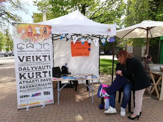 Gargždų atviro jaunimo centro nuotr./Gargždų atviro jaunimo centro savanoriai