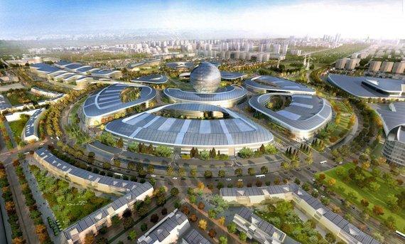 """""""Adrian Smith and Gordon Gill Architecture""""/Parodai """"Expo 2017"""" statomas miestas Kazachstane"""