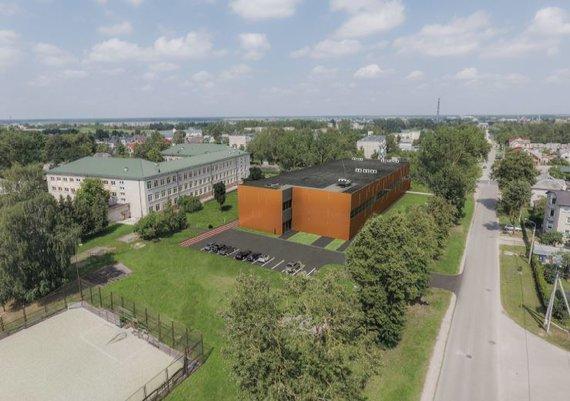 Šiaulių sporto gimnazijos universalios sporto salės vizualizacija