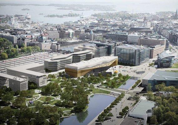 ALA vizualizacija /Helsinkyje kyla nauja biblioteka