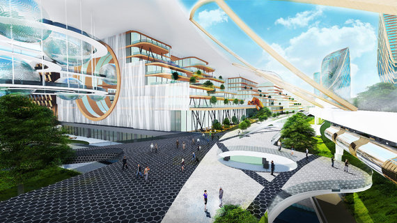 """""""Baltic Architects Group"""" vizualizacija /""""New Kaunas"""" – ateities miestas"""