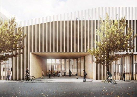 """C.F. Møller"" vizualizacija /Nauja mokykla Kopenhagoje"