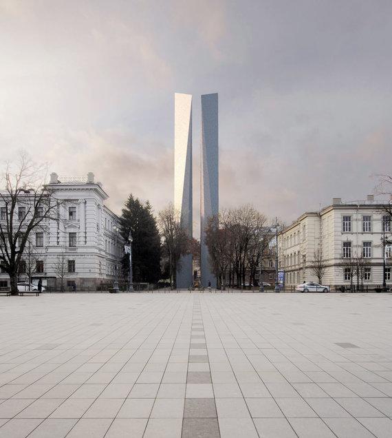 A.Ambraso vizualizacija /A.Ambraso siūlomas obeliskas Aukų gatvėje