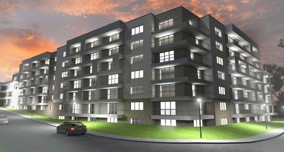 Bendrovės vizualizacija/Apleistą namą Antakalnyje planuojama rekonstruoti