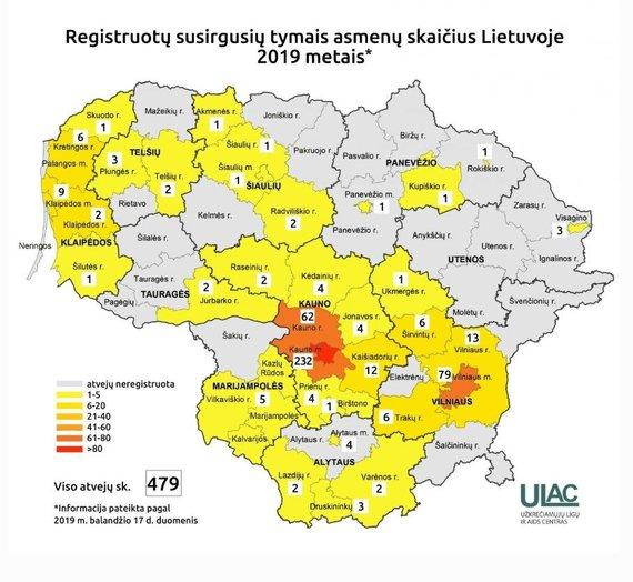 ULAC iliustr./Tymų žemėlapis, 2019.04.17 duomenys
