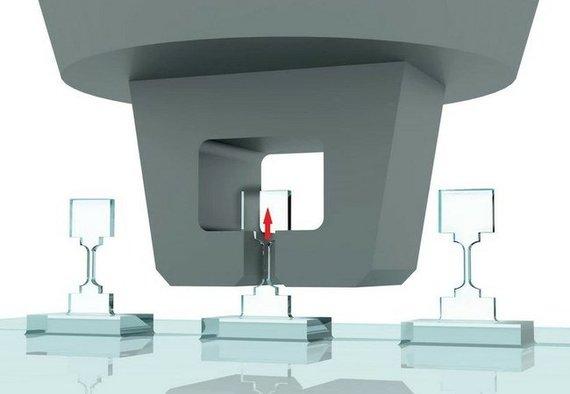 Dango Chaoquno/Honkongo universiteto iliustr./Diagrama, rodanti, kaip buvo ištemptos specialios formos deimantinės nanostruktūros