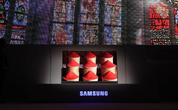 """""""Scanpix""""/AP nuotr./Pristatomas """"Samsung"""" QLED televizorius su kvantinių taškų technologija"""