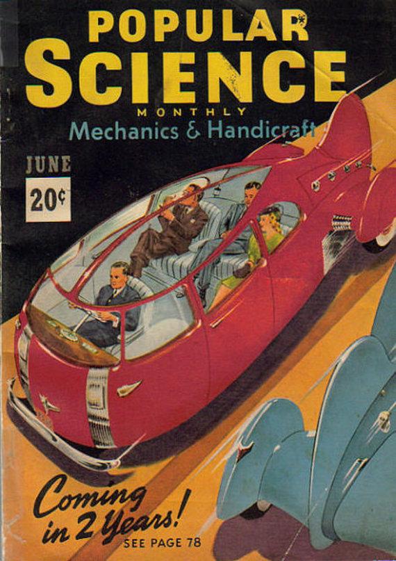 """Žurnalo """"Popular Science"""" iliustr./Autonominiai automobiliai"""
