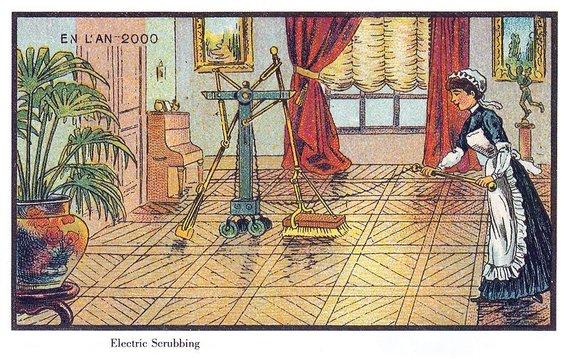 """Viešo naudojimo nuotr./""""Elektrinis šveitimas"""" – šiuolaikinio roboto-siurblio įsivaizduojamas protėvis"""