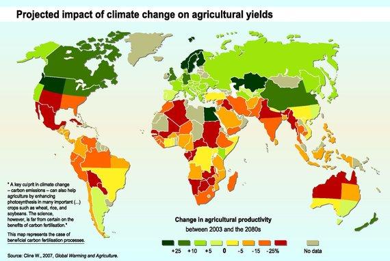 Cline W. 2007. Global Warming and Agriculture/1 pav. Klimato kaitos poveikis žemės ūkio kultūroms