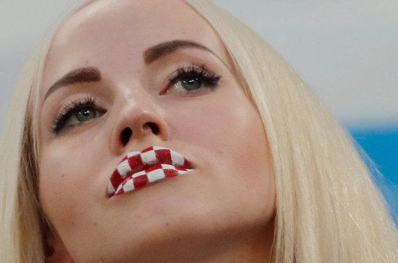 """""""Scanpix"""" nuotr./Aštuntfinalio mačas: Kroatija – Danija."""