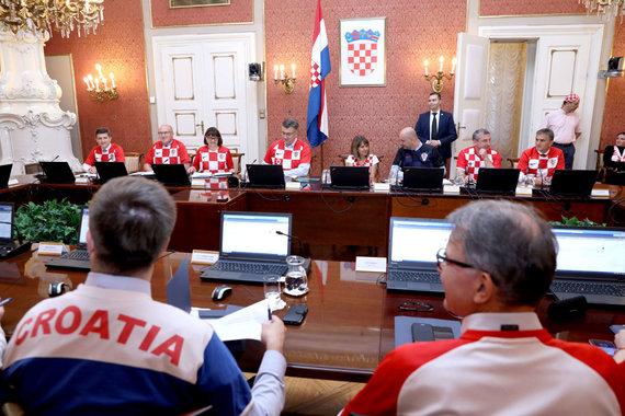 """""""Scanpix"""" nuotr./Zagrebe politikai susirinko į posėdį."""