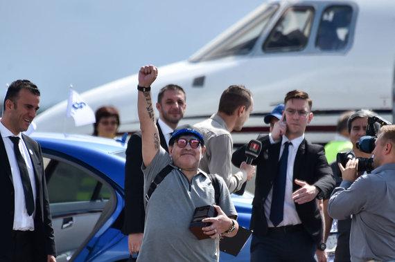"""Scanpix"" nuotr./Diego Maradona atskrido į Baltarusiją."