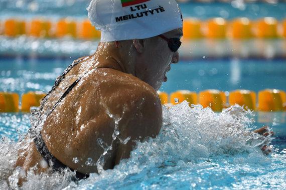 "AFP/""Scanpix"" nuotr./Rūta Meilutytė Europos čempionate Glazge."