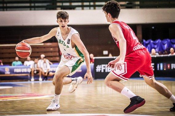 FIBA nuotr./Europos jaunimo (iki 16 metų) čempionato ketvirtfinalis: Lietuva – Kroatija.