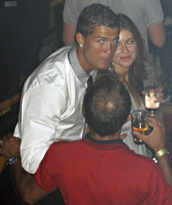 """""""Scanpix""""/AP nuotr./Cristiano Ronaldo užfiksuotas 2009 metais per vakarėlį Las Vegase su Kathryn Mayorga"""