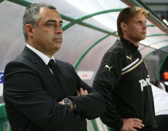 """""""Scanpix""""/""""RIA Novosti"""" nuotr./Jose Couceiro ir Edgaras Jankauskas 2012 metais kartu dirbo Maskvos """"Lokomotiv"""" klube."""