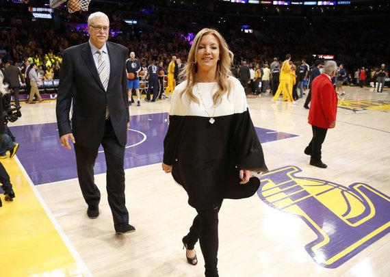 """Scanpix"" nuotr./""Los Angeles Lakers"" savininkė Jeanie Buss."