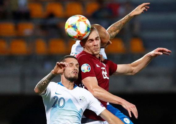 """""""Scanpix"""" nuotr./Latvijos rinktinė namie pralaimėjo Slovėnijai 0:5."""
