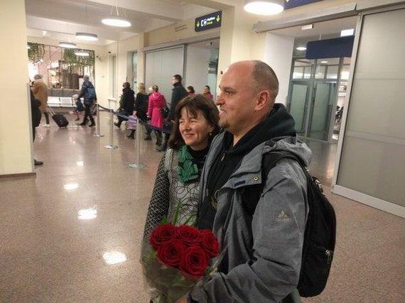 Kęsto Rimkaus nuotr./Darius Labanauskas su žmona.