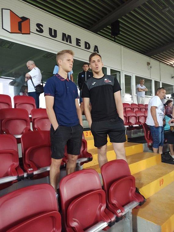 Alberto Skirpsto nuotr./Paulius Golubickas Marijampolės stadione.
