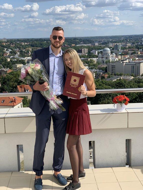 Asmeninio albumo nuotr./Kotryna Motiejūnaitė ir Donatas Motiejūnas